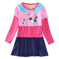 Babi Princess Nova Child Girls Clothes Flower Patchwork Dress Kids Casual Cotton Embroidery Dress For Girl H5616