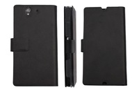 Doormoon For sony  Xperia  Z l36h Flip Leather Case Real Cowhide Leather Cover And Retailed Package By Free Shipping