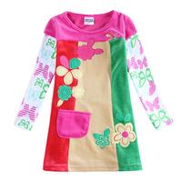 Babi Princess Nova Child Flower Girl Clothing Kids Cotton Embroidery Winter Dress For Girl H5623