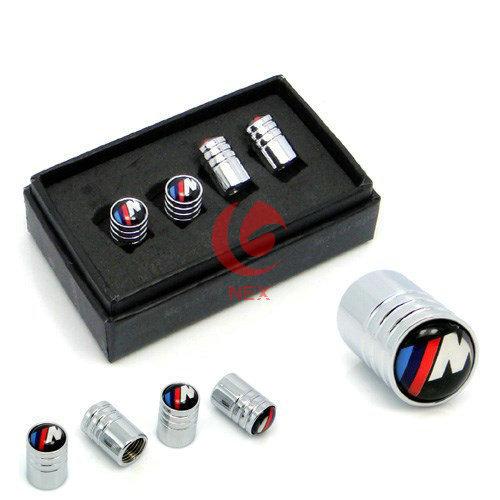Chrome Metal Car Wheel Tire Valve Caps For BMW E46 E52 E5