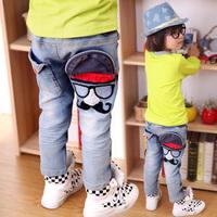 2014 children's autumn clothing trousers child jeans male child denim pants kz0793
