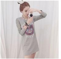 E-Unique Plus Size Autumn 2014 Women'S Lace Sleeve Patchwork Print O-Neck Slim Long-Sleeve Dress Female Dress WB01