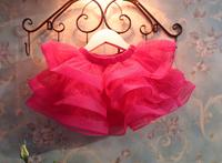 Wholesale 2014 new Christmas Fashion Perfect Wide Hem Children Mini Gauze Skirt Girls Above Knee Ruched Pleated Skirt