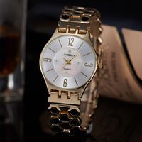 Best-Selling Fashion Casual Gold Full Steel Quartz Watch Alloy Case Analog Ladies Wristwatch Relogio Feminino Da China Dropship