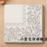 Free shipping Printed Table Napkin Printing Serviette Colorful Facial Tissue Party Napkin Paper( 10 packs=200pcs)