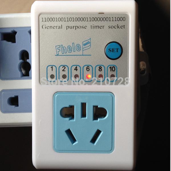 Socket Timer Controller 10A 220V 10 Hour Adjustable Free Shipping(China (Mainland))