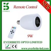 9w Wireless E27 LED Light Lamp Bluetooth Audio Speaker Music Playing Lighting Bulb,free shipping