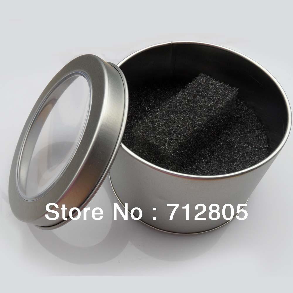 Free shipping 10pcs 9cmx6cm Metal Round Watch Box High Quality Tin Alloy Watches Box Jewellery Gift Box(China (Mainland))