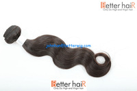 Most popular in USA and Euro pure unprocessed natural color 7a body wave virgin malaysian remy hair