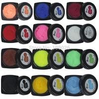 12 color Coloured Nail Art Tips Creative Manicure Decoration 3D UV Sculpture Gel 5g/pcs
