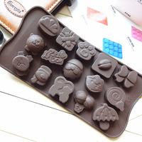 New silicone chocolate ice tray mold miscellaneous FDA Center Santa pattern
