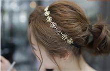 Fashion New Lovely jewelry Lady Hollow Rose Flower Elastic Hair Head Band Headband Headwear Accessories Women