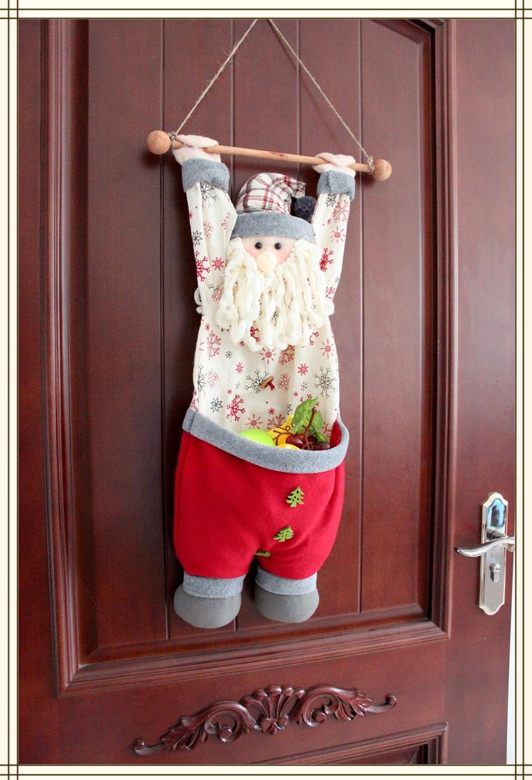 Christmas Figurine Hanging Santa Claus Christmas Dolls Wall/Door Christmas Hanging Decorations, More Than $100 TNT Free Shipping(China (Mainland))