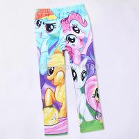 Spring autumn cartoon my little pony Children Clothing Pants Leggings Character Regular Elastic Waist Cotton Straight pants
