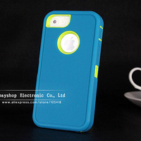 3 in 1 Cute Triple Protection Lovely Robot Bag water dirt shock proof Back Case for iPhone 5 5s Assorted Colors For Any Ages