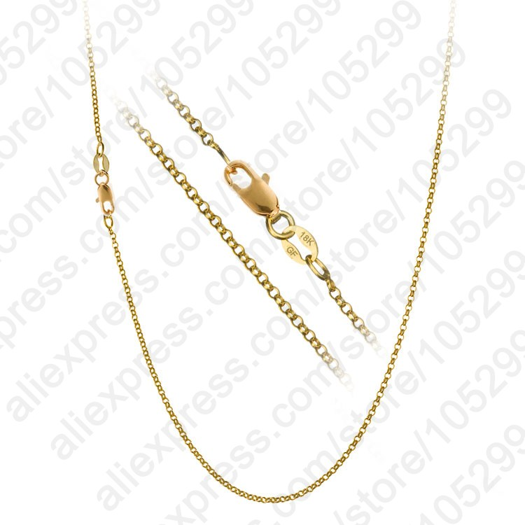 """1PC Nice Accessories Findings 16""""-30"""" Necklace Chains O Genuine 18k Gold Filled Link Rolo Chain+Lobeter Clasp Pendant Cheap(China (Mainland))"""