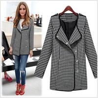 Design New Autumn/Winter Coat Women Long Oversize Plus Size Warm European Fashion Overcoat # 2661