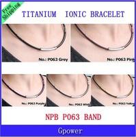 Free Shipping NPB P063 Germanium Ion Fashion Power Titanium Bracelets Jewelry Stainless Steel Bracelet 10PCS/LOT