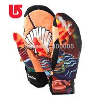 BURTON Ski Gloves Waterproof  Mermaid Snowboarding Gloves Men Women  Warm & Breathable Ski Gloves for Snowboard Size:XS S M L