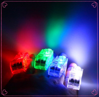 Super Bright Finger Flashlights - LED Finger Lamps - Rave Finger Lights, Pack of 40 (White,Green,Blue,Red mixed)