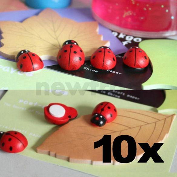 Barato 10 PCS Ladybug início frigorífico frigorífico ímã Glue ornamento decoração adesivo E1Xc(China (Mainland))