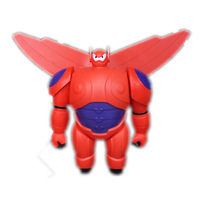 2014 New Marvel Movie Big Hero 6 PVC Action Figure Big Hero 6 Baymax Robot Toy Doll with Retail Box for Baby Gift