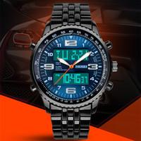 Skmei 1032 LED Digital Watches dive 30m Quartz watch men luxury brand Military Watches Stainless Steel Multifunction Wristwatch