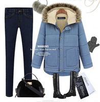 2014 women's  winter  thick padded down coat,fur collar hood , long  ,plus size large5xl 4xl 3xl 2xl free shipping wholesale