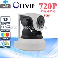 Onvif 2.0 720P IP Camera Wireless Wifi CCTV Camera HD Indoor Pan/Tilt IR CUT Night Vision Support 32G SD Card