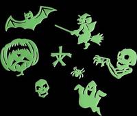 60pcs Bat witch Human skeleton skull glow wall In The Dark Stickers Baby Kids Gift Nursery Room Luminous Fluorescent Stickers