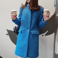 2014 women woolen outerwear female medium-long 2014 woolen outerwear female coat