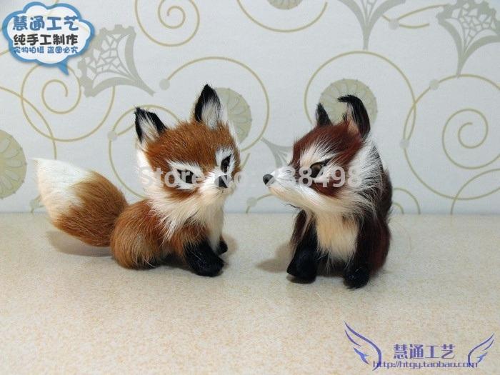 Free Shipping FOX Pets animal Toy/Advanced Simulation standing FOX Plush toys Pet simulation Companion fox Stuffed Animals child(China (Mainland))