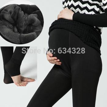 Плюс бархат утолщение зима по беременности и родам леггинсы одежда для беременных ...