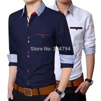 C217 New Mens Fashion Casual Luxury Dress Slim Fit Long Sleeves Shirts
