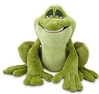 Original The Princess and the Frog Exclusive 12 Inch Prince Naveen as Frog Plush Toys 30cm Fantasia Tiana Princess Toys for Kids
