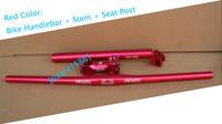 2014 Horizontal handlebar One shaped handlebar suit alloy aluminum  bend elbow bicycle handlebar seat post stem Free shipping