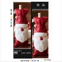 2014 New arrival X-mas wine bottle packing bag, Unique design Christmas supplies, Santa gift box wine bottle cover 200pcs/lot