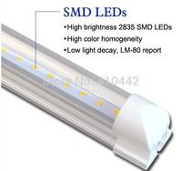 wholesale Free shipping 50pcs/lot integrated 18W 1200MM T8 LED Tube light Epistar SMD2835 25LM/PC 96led/PC 2400LM AC85-265V