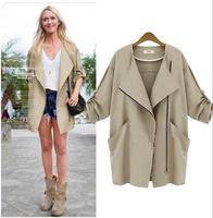 M-5XL 2014 New Hot Fashion Autumn Winter Jacket Women Clothing Casual Coat Plus Size European style big yards thin loose jacket