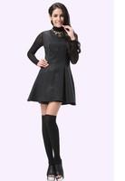 2014 fall new side skirts Slim round neck sleeveless princess dress winter dress free shipping