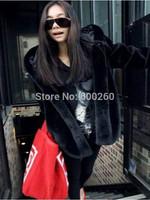 2014 Winter warm Women's Rabbit Fur Coat Fox Fur Collar Medium-long Hooded Fur Coats Overcoat free shipping hot sales