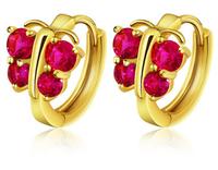 Gilded color earrings female butterfly earrings ear buckle gift girlfriend
