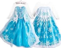 Frozen Cosplay Girl Dress Princess Elsa Costumes Christmas Party Dress for Kids Girl Clothing Children Vestidos de Menina