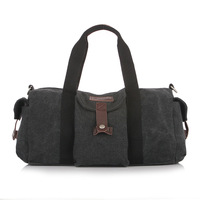 NEW Arrival Men Travel Bags Big Capacity Travelling Duffle Canvas Messenger Shoulder Bag For Men Women Coffee Black  Color