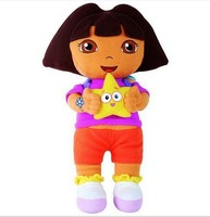 "Free Shipping Dora the Explorer With Star Extra Large Plush Doll Dora Explorer Baby Toy 1pcs New 14"" Retail1"