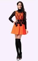 2014 new fall 11 floral dress sleeveless vest dress  autumn dress Slim free shipping