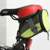 2014 Outdoor Cycling Mountain Bike Bicycle Saddle Bag With LED Light Back Seat Tail Pouch Package Quick Release Green/Blue