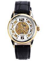 fashion gold automatic wristwatch for men vintage wristwatch waterproof watch drop shipping wholesale christmas gift 2014 T177