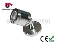 Free Shipping 1W 3W LED Cabinet Spotlight, Brightness LED Cabinet Lamp for jewelry, Showcase LED Light