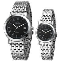 fashion sliver white / black quartz wristwatch for lovers vintage waterproof watch gift for women men drop shipping  T166